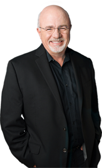 Dave Ramsey wearing a black suit recommends Zander Insurance